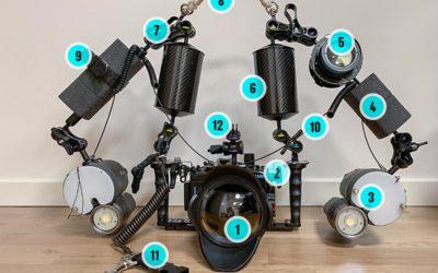 Mit undervandskamera-setup